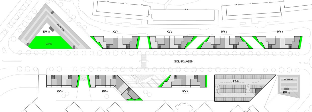 Solnavagen_solna_stockholm_gårdsplan_bostader_butiker_statsutveckling_varg_Arkitekter